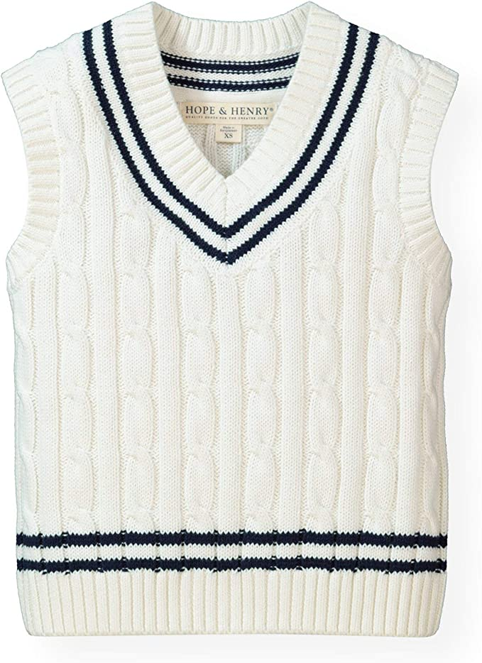 1920s Children Fashions: Girls, Boys, Baby Costumes Hope & Henry Boys V-Neck Sweater Vest $25.95 AT vintagedancer.com