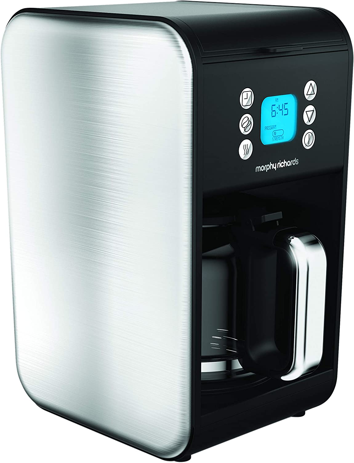 Morphy Richards 162010 Pour Over Filter Coffee Maker, 1.8 Litre, 900 W, Brushed Stainless Steel Morphy Richards Coffee Machine
