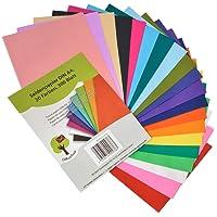 OfficeTree® papier de soie 300 feuilles A4 - papier vitrail - 20 couleurs - bricolage loisirs créatifs décorations esquisses découpages - 16 g/m² qualité premium