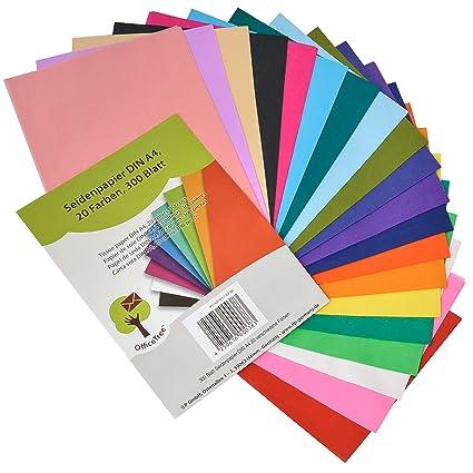 Bekannt OfficeTree® Seidenpapier 300 Blatt A4 - bunt 20 Farben - mehr Spaß GP15