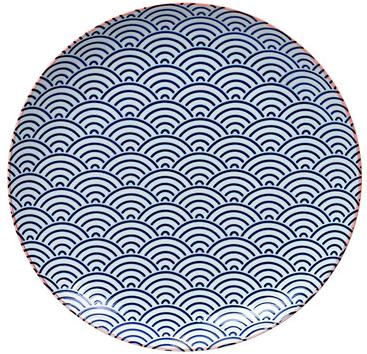 Tokyo Design Studio Starwave Dinner Plate - Large Wave - Dark Blue/Pink at Amara
