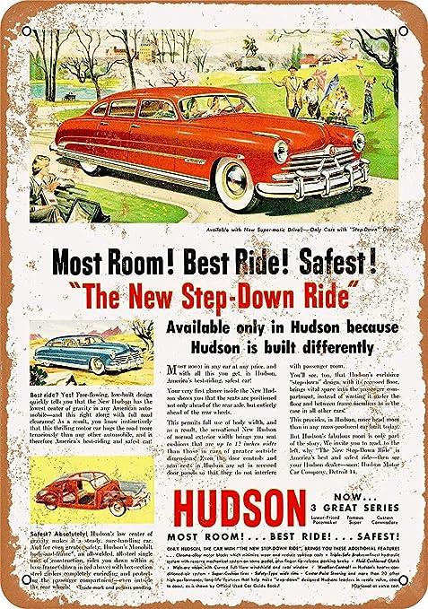 Shunry Hudson Car Placa Cartel Vintage Estaño Signo Metal De ...