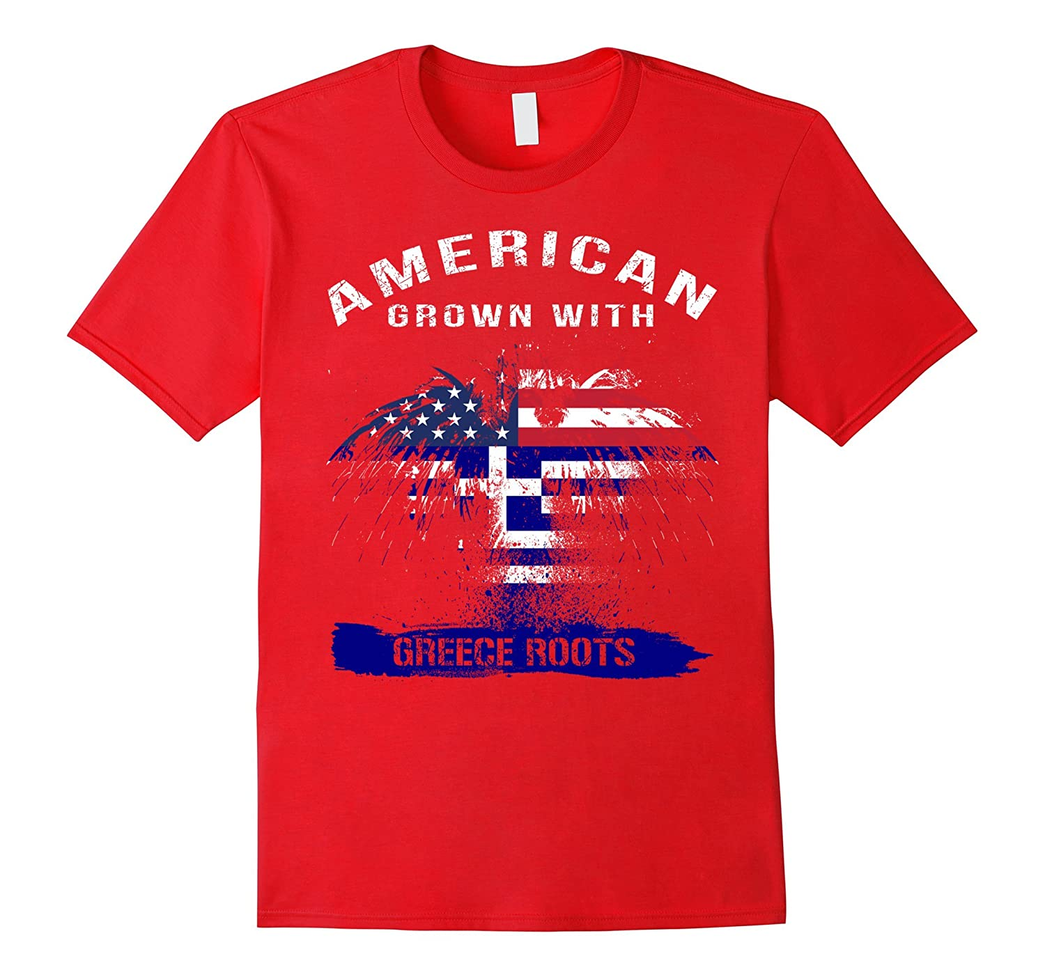American grown with Greek Roots gifts tshirt-PL