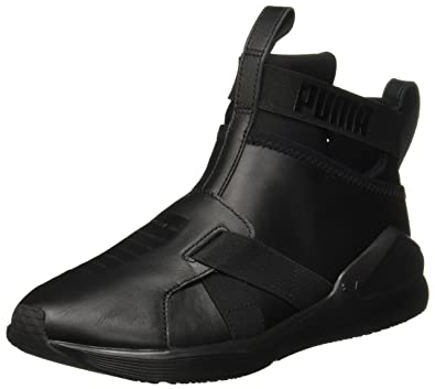Puma Sneakers Fierce Strap Leather Wn'S Total Black 190569-01 - 39, Nero