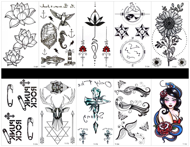 tatuajes temporales en un solo paquete, diseños mixtos como ...