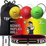 TEKXYZ - Balón de boxeo reflejo, 2/3/4 diferentes pelotas de boxeo con diadema, más suave que la pelota de tenis, perfecto pa