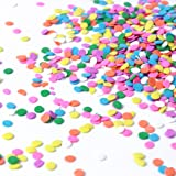 Pastel Confetti| Pink Yellow Purple Orange Blue White Colorful Candy Sprinkles Mix for Baking Edible Cake Decorations Cupcake
