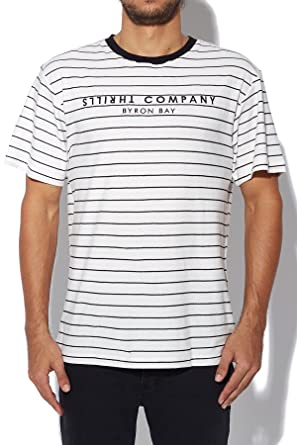 0838def44614 THRILLS Thrills Co Byron Bay Stripe Stripe White Black: Amazon.com ...