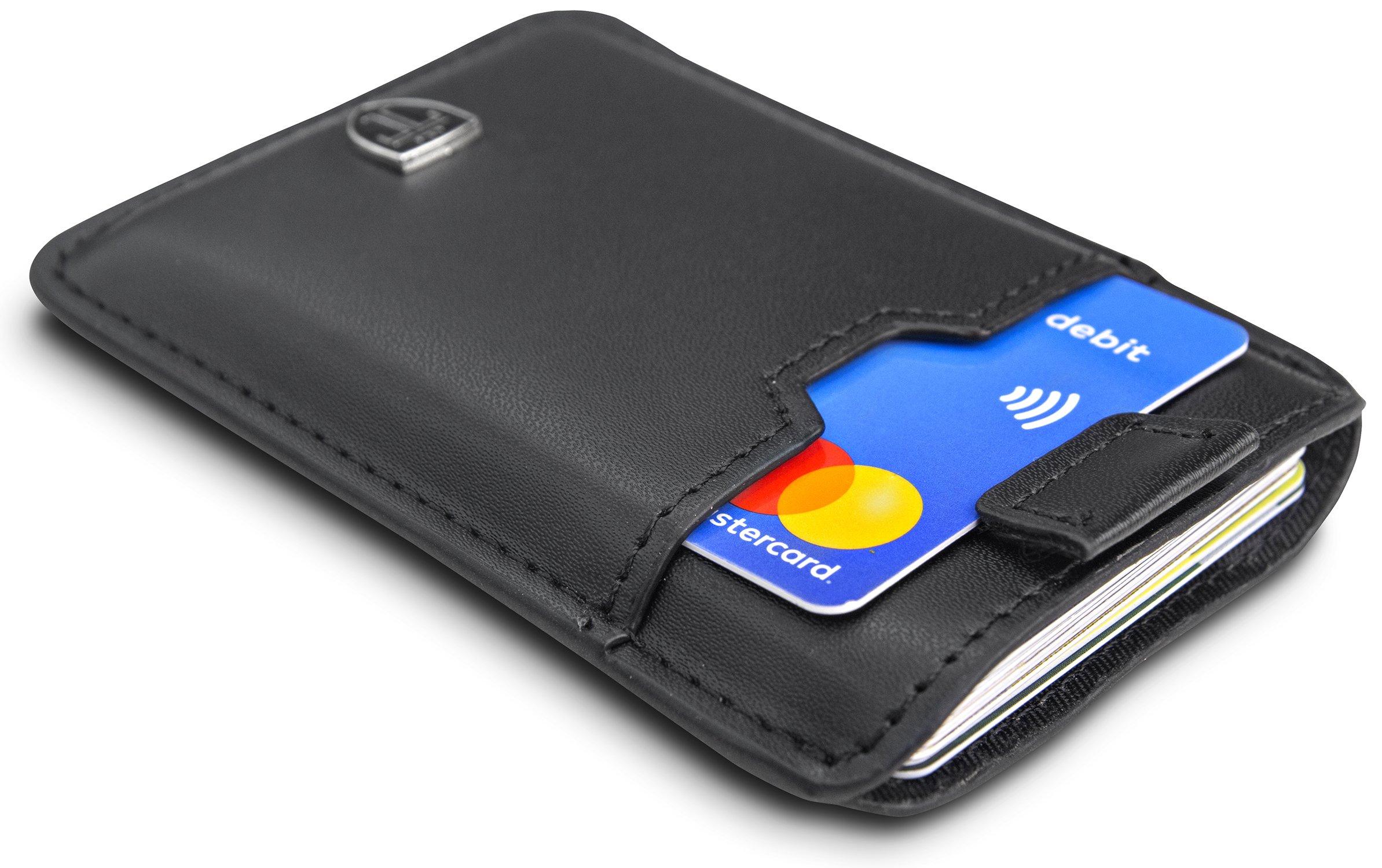 TRAVANDO ® Tarjetera con SEGURIDAD RFID, PROTECCIÓN hasta 12 tarjetas (Crédito) | Billetera