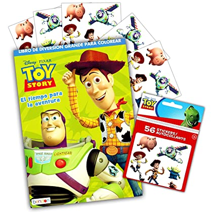 Disney Pixar Toy Story Coloring And Activity Book With Stickers International Edition Spanish Language