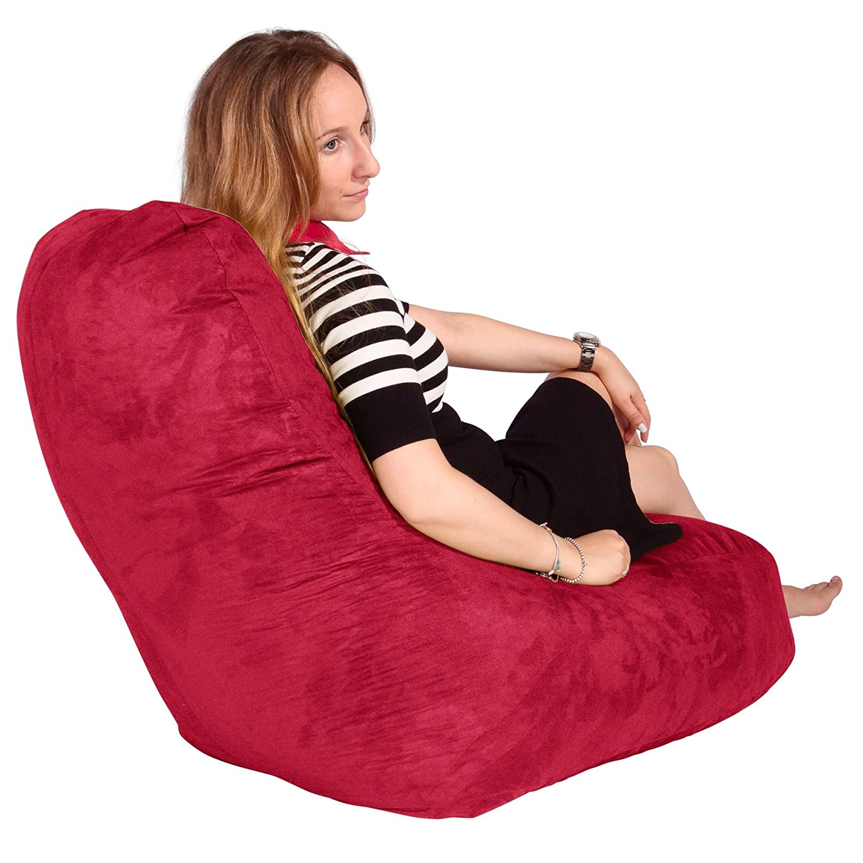 Stupendous Lounge Lizard Lounger Bean Bag Chair Red The Beanbag Andrewgaddart Wooden Chair Designs For Living Room Andrewgaddartcom