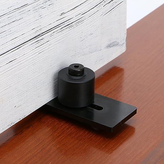 smartstandard parte inferior guía de suelo ajustable suelo rodillo guía deslizante puerta del establo (negro): Amazon.es: Bricolaje y herramientas