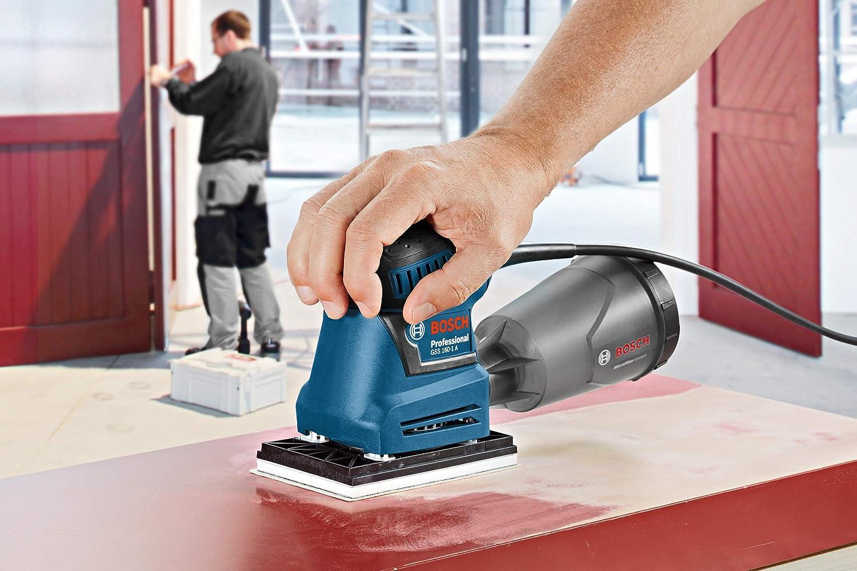 accesorios para lijadora orbital Bosch Professional 2608621229 Hojas de lija M480 Best for Wood and Paint 80 x 133 mm madera y pintura Set de 10 Piezas grano P180