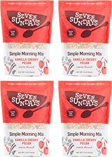product image for Seven Sundays Simple Morning Vanilla Cherry Muesli Cereal {12 oz. pouches, 4 Count} | Gluten Free Certified | Non GMO | No Refined Sugar | Kosher