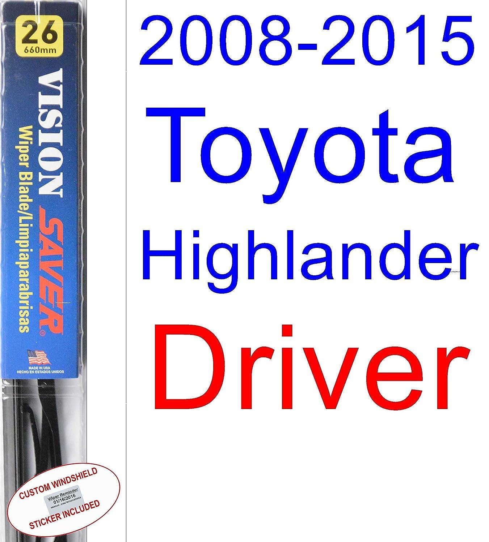 Amazon.com: 2008-2015 Toyota Highlander Wiper Blade (Rear) (Saver Automotive Products-Vision Saver) (2009,2010,2011,2012,2013,2014): Automotive