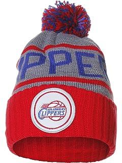 pretty nice de284 59391 Mitchell   Ness NBA Team Colors Cities High 5 Pom Pom Beanie Cuff Knit Hat
