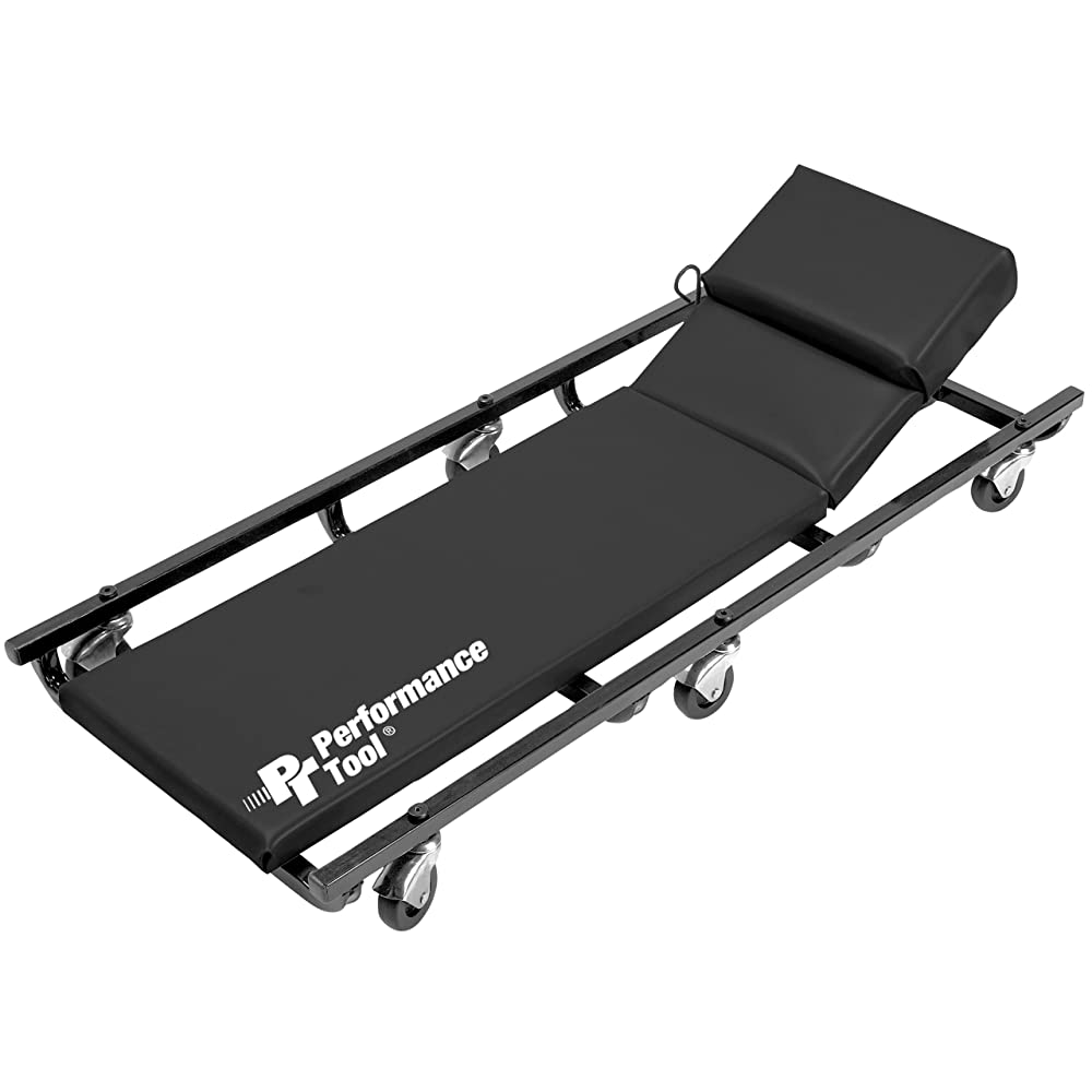 Performance Tool Wilmar W85005 40-Inch 6 Caster Creeper with Adjustable Headrest