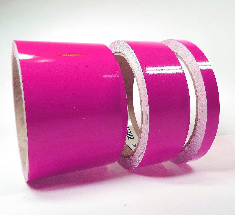 Siviwonder Zierstreifen pink in 10 mm Breite und 10 m L/änge Folie Aufkleber f/ür Auto Boot Jetski Modellbau Klebeband Dekorstreifen rosa