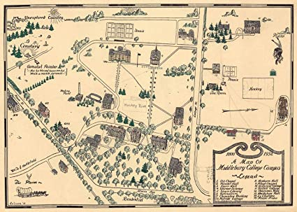 Wabash College Campus Map.Amazon Com Historic Map 1932 A Map Of Middlebury College Campus
