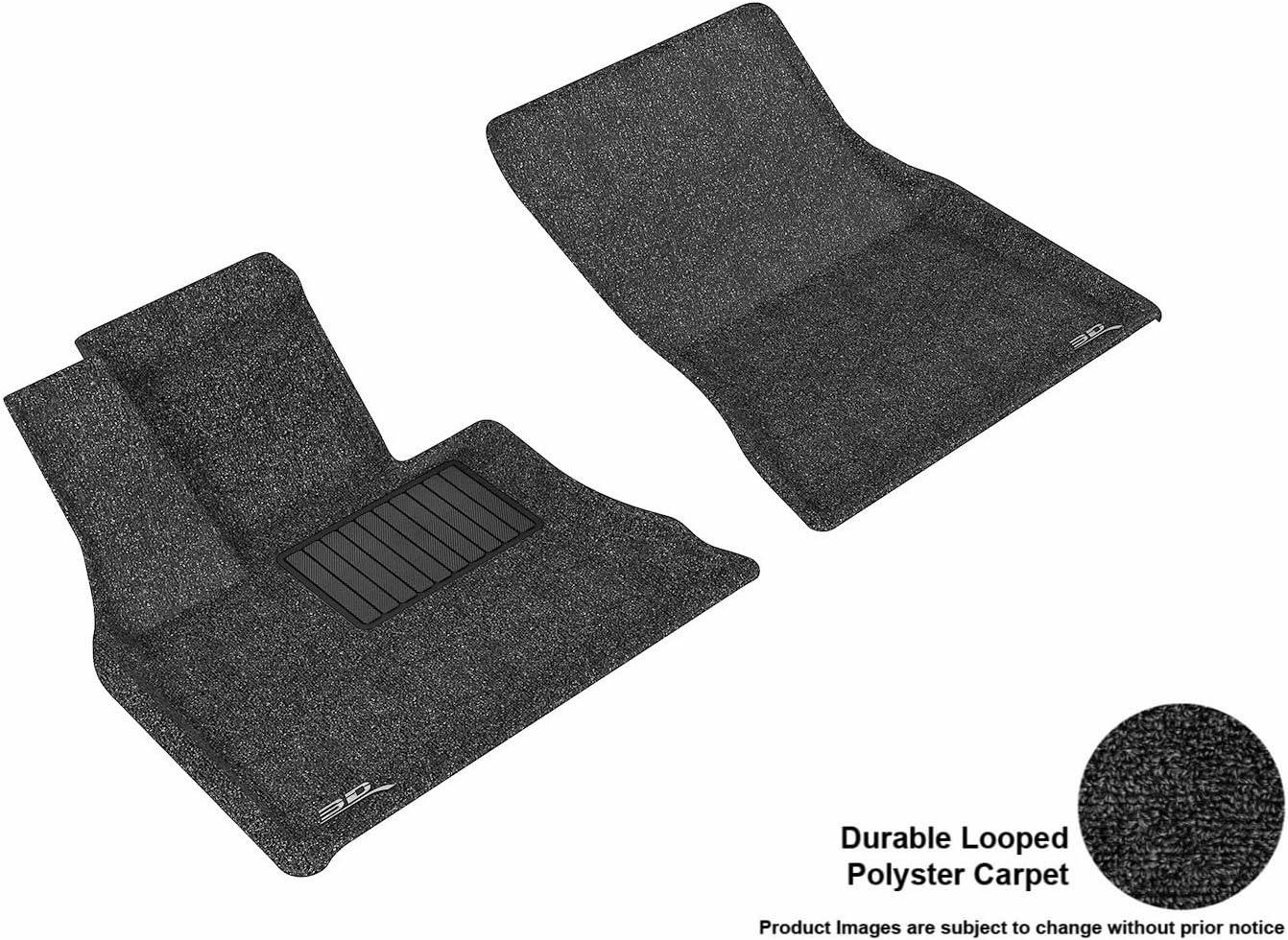 Black F15 // X6 Classic Carpet Models F16 3D MAXpider L1BM05512209 Front Row Custom Fit Classic Floor Mat for Select BMW X5