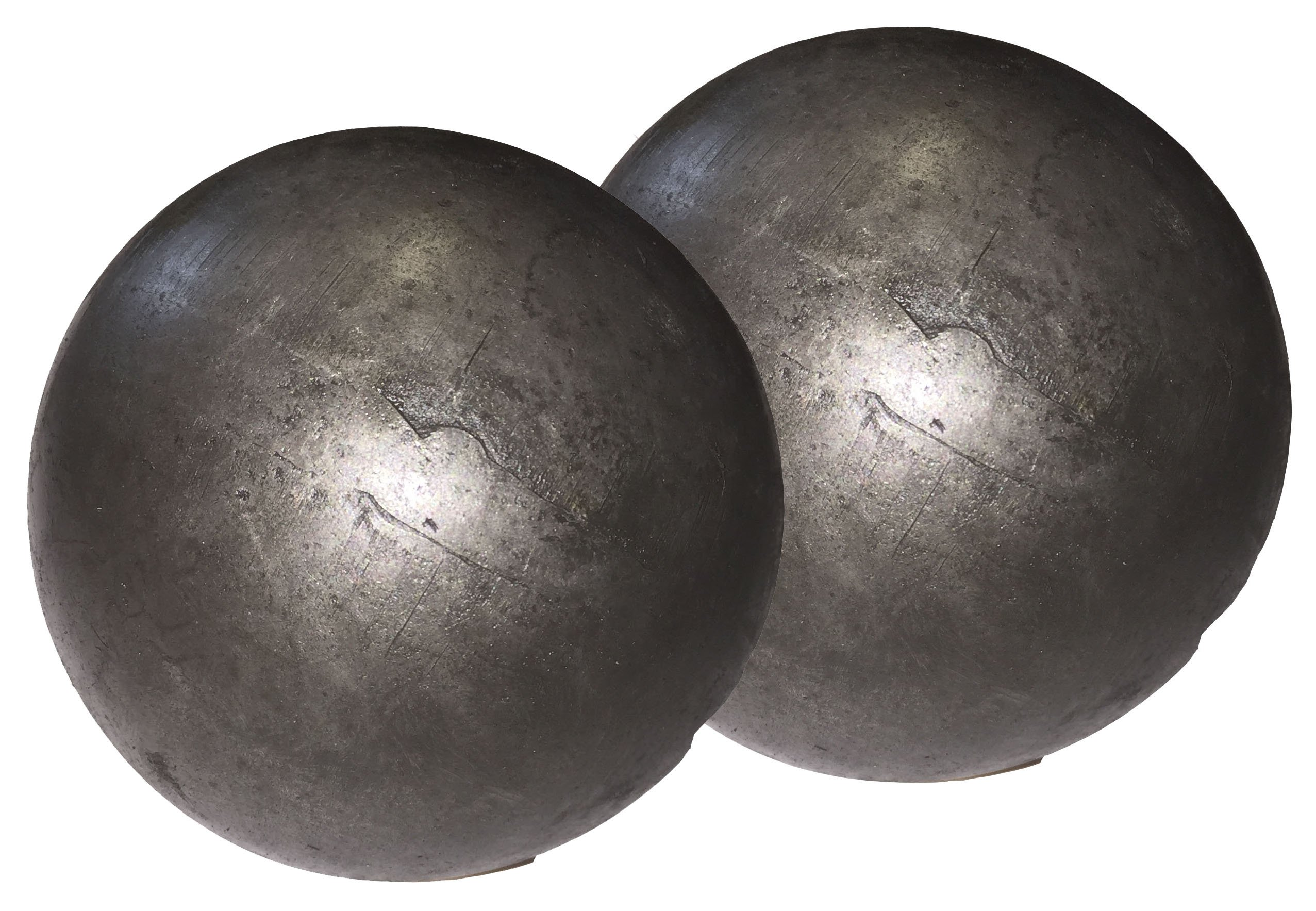 Hollow 3'' steel ball weldable DIY project component (2-pack) by WELDIY (Image #3)
