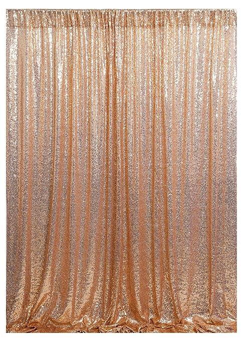 Queendream Paillettes Sfondo Oro Rosa 4ftx65ft Paillettes Sfondo