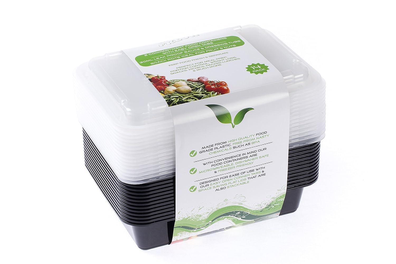 Pots snacks gratuits pack de 14 bo/îtes Bo/îte repas /à double compartiment passe au micro-ondes et au lave-vaisselle empilable sans BPA contenant pour nourriture contr/ôle des portions .Bo/îte repas r/éutilisable