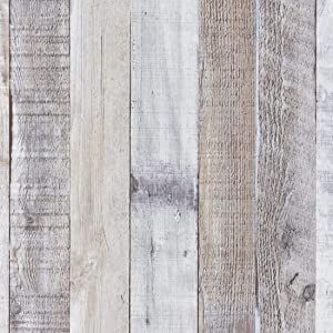 """Art3d 120""""x17.3"""" Peel and Stick Wallpaper - Decorative Self Adhesive Vinyl Film Wood Grain Wallpaper for Furniture Cabinet Countertop Shelf Paper, Grey Shiplap Wallpaper"""