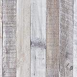 "Art3d 17.7""x78.7"" Peel and Stick Wallpaper - Decorative Self Adhesive Vinyl Film Wood Grain Wallpaper for Furniture Cabinet C"