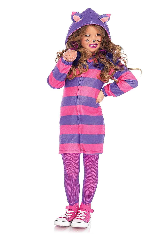 Amazon.com: Leg Avenues Girls Cheshire Cat Cozy Costume, Pink/Purple, XS: Toys & Games