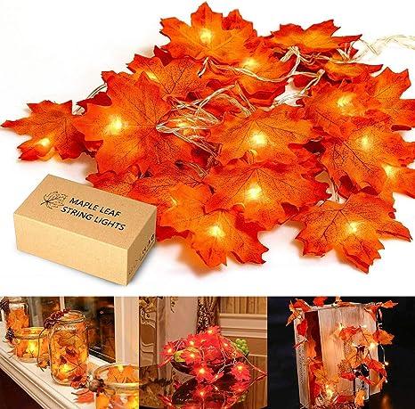 Fall Table Decor Fall Light Garland. Fairy Lights LED String Lights Thanksgiving Table Decorations Acorn Lights
