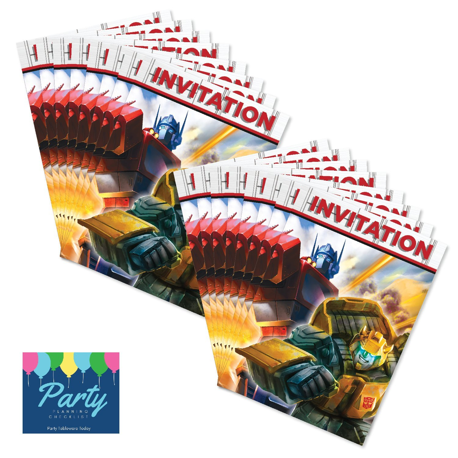 Party Tableware Today Transformers Birthday Invitations (16ct) by on ...