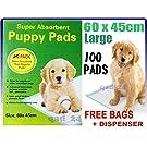 100 x PUPPY DOG TRAINING PEE PADS 60 x 45CM MAT HOUSE TRAINER PET LARGE