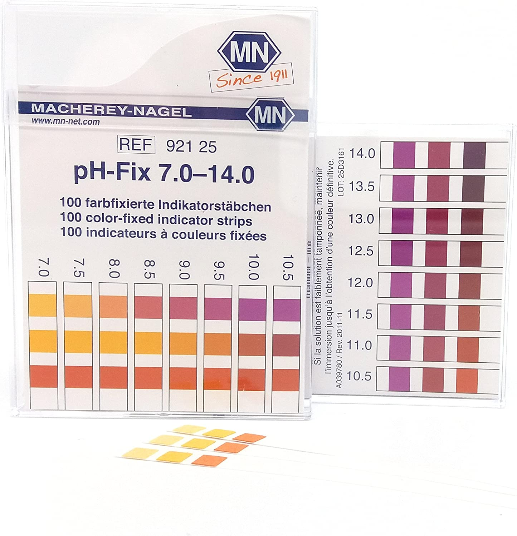 100 count Macherey-Nagel pH-Fix 4.5-10.0 pH strips Indicator Sticks
