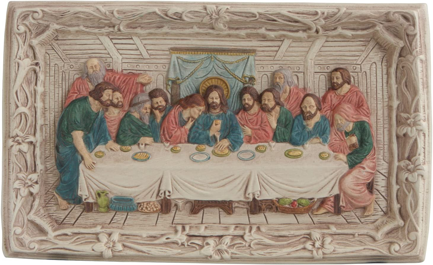 Culture Spot Last Supper Wall Relief Decor with Multicolor Finish | 8 Inches