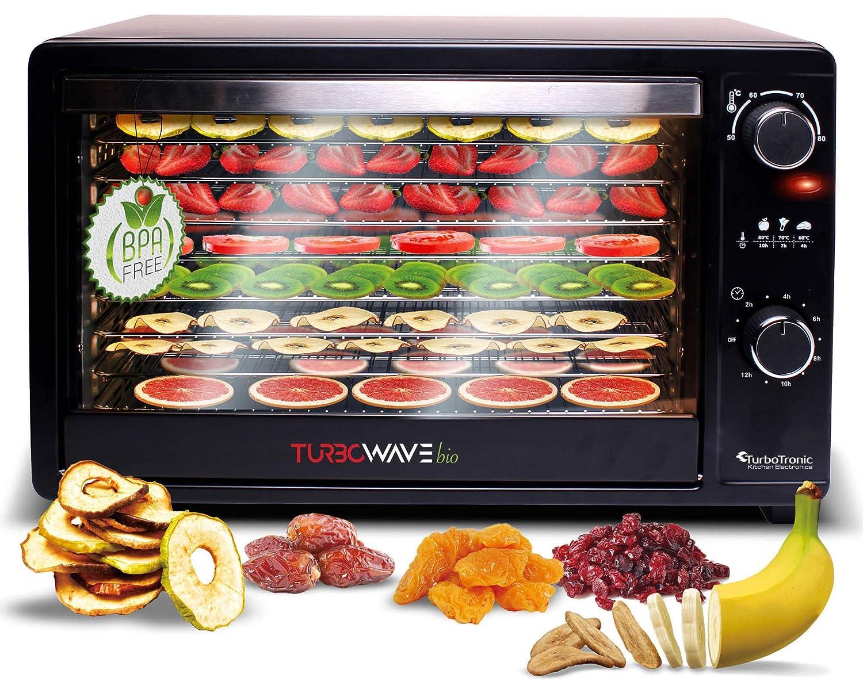 turbowave bio D/örr dispositivo completo de metal 5/x estante incluye temporizador y recetas 14 litros 14/litros