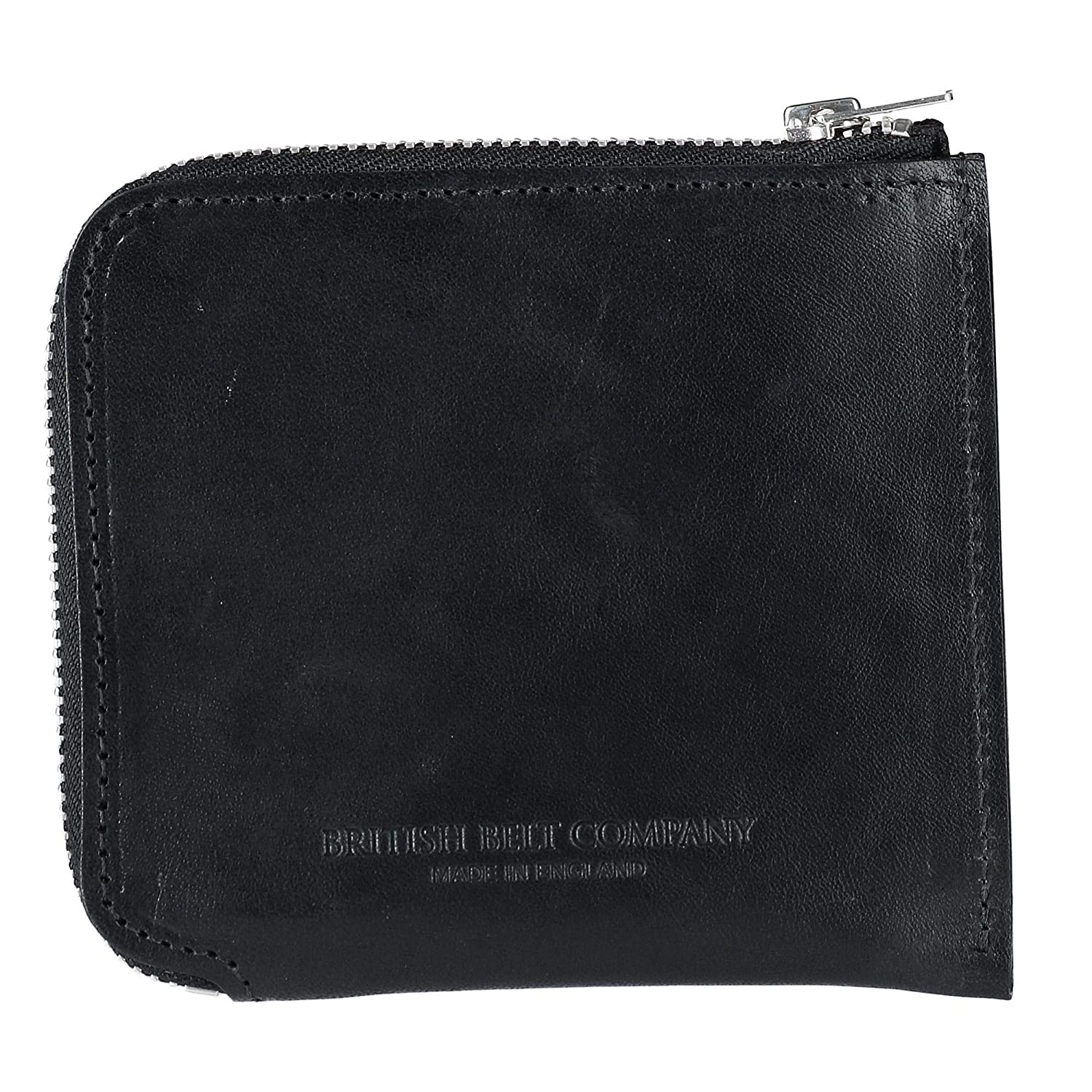 7e5bb577bbe7 The British Belt Company Italian Leather Zip-Around Wallet, Black at Amazon  Men's Clothing store: