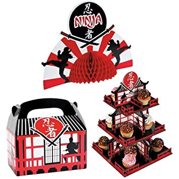 Amazon.com: Fun Express Ninja Warriors Party Bundle | Treat ...