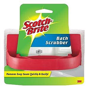 3M Scotch-Brite Handled Bath Scrubber, 3.5 in. x 5.8 in., 1/Pack - 7723