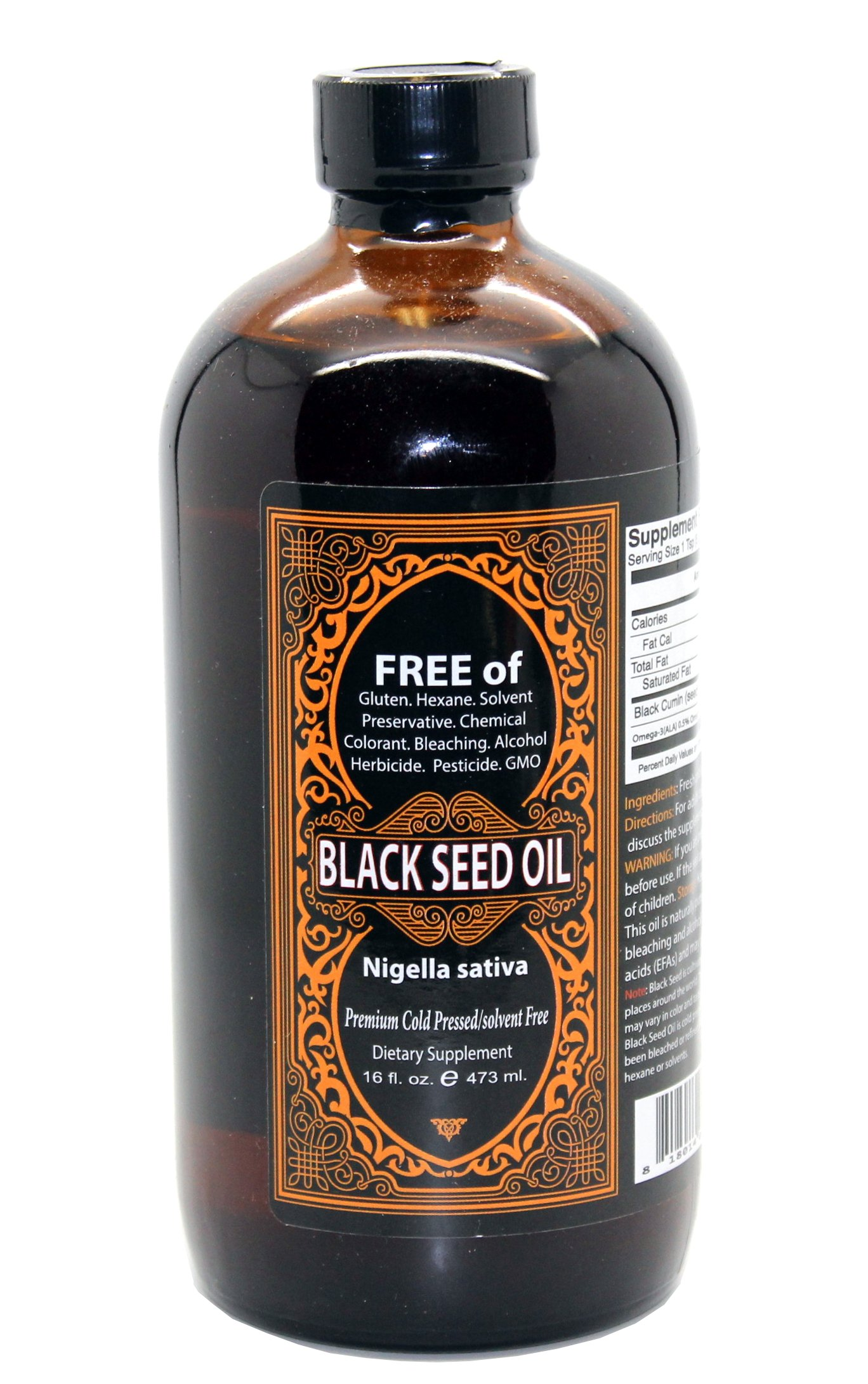Our Earth's Secrets - Premium Black Seed Oil Cold Pressed - Nigella Sativa - Glass Bottle - 32 oz