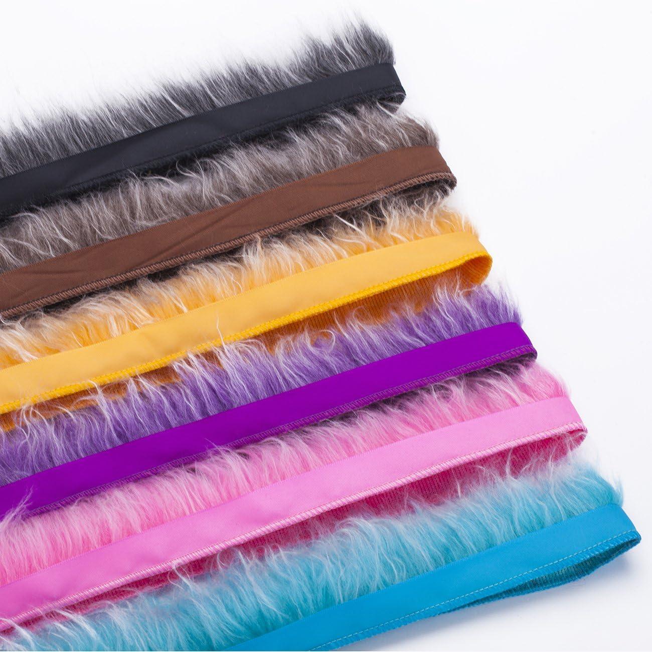Vendu au yard Ruban satin et frange en fausse fourrure bicolore effet laine Neotrims Poils /épais d/éguisement Pour costume Ruban sur le c/ôt/é pour une couture facile. d/écoration