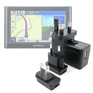 DURAGADGET Kit De Adaptadores con Cargador para GPS Garmin ...