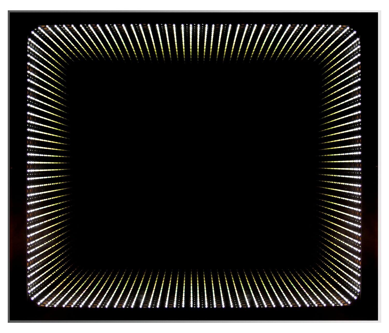 Badezimmerspiegel mit LED Beleuchtung besonderer 3D Effekt Venecia Wandspiegel 65 x 79 cm