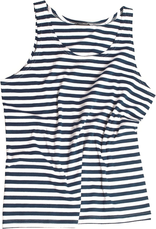 Famoso ruso tipo azul blanco rayas 100% algodón Telnyashka Camiseta de tirantes: Amazon.es: Ropa y accesorios