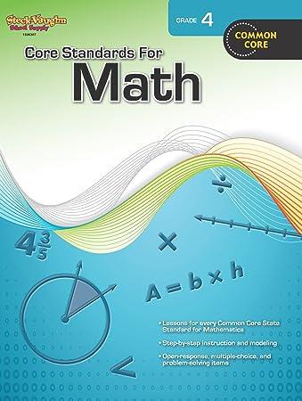Core Standards for Math, Grade 4: Steck-Vaughn: 9780547878225 ...