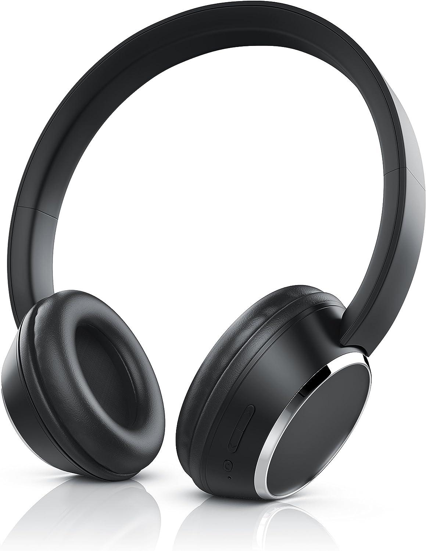 Manos Libres Auriculares Bluetooth CSL 310 | Wireless Headphone | Micrófono Integrado para Dispositivo de Manos Libres| Bluetooth | hasta 10 Horas para música/telefonía | Negro