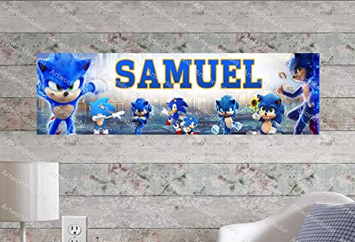 Amazon Com Sonic The Hedgehog Movie 2020 8 5 X30 Personalized Name Poster Customize With Your Child S Name Birthday Party Banner Handmade
