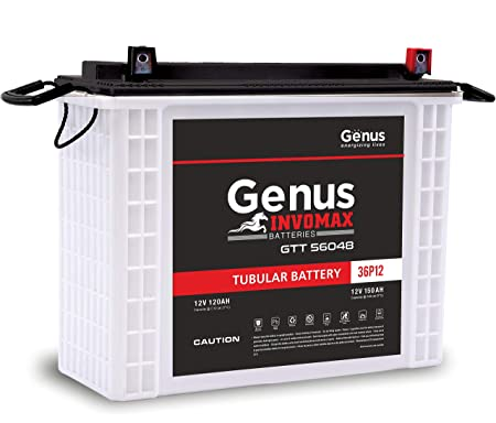 Genus Invomax GTT56048 PP 150 AH Tall Tubular Inverter Battery for Home and Office