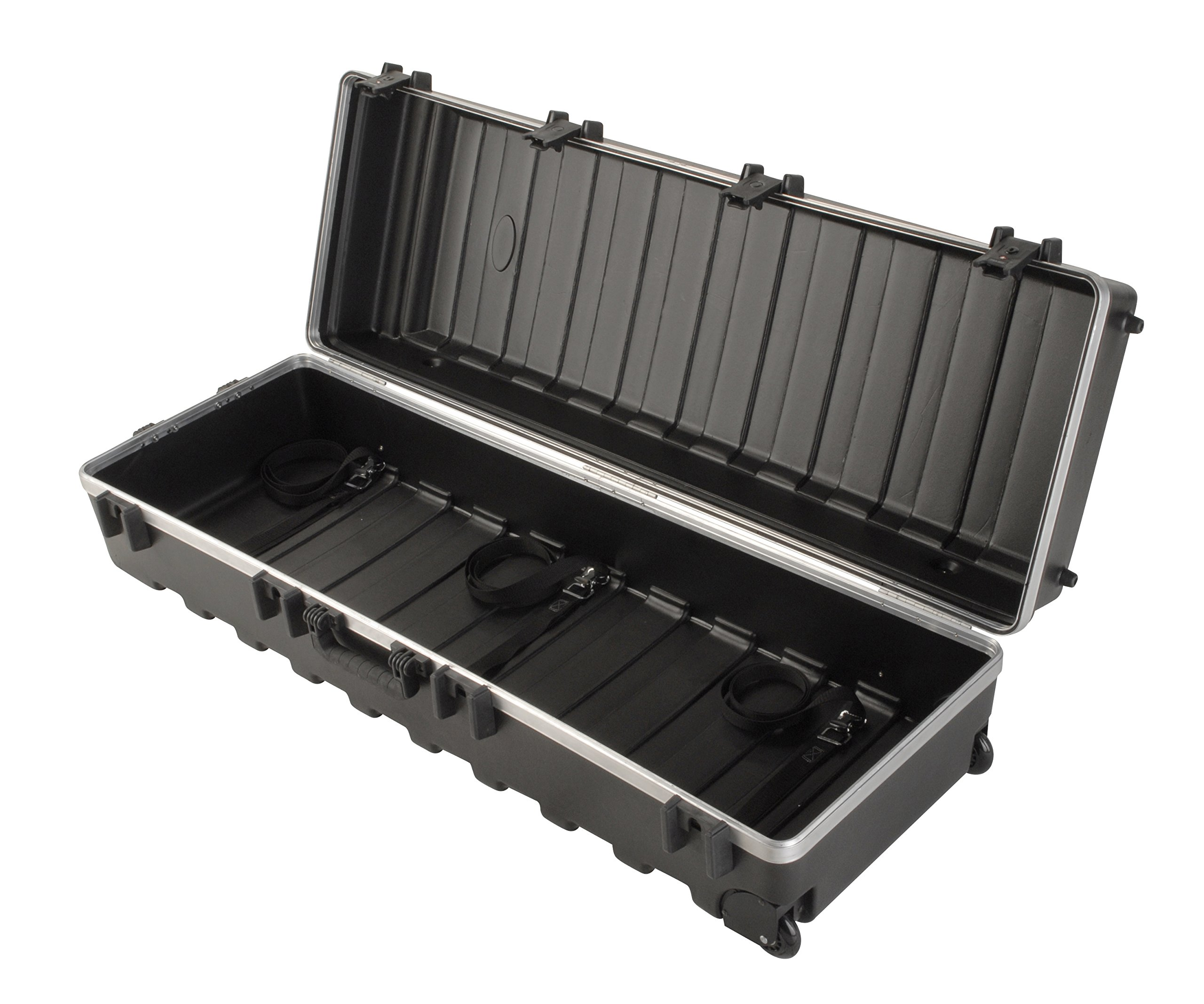 SKB ATA Large Stand Case (48 x 16-1/4 x 13) with Wheels & Straps, TSA Latches, Over-molded Handle