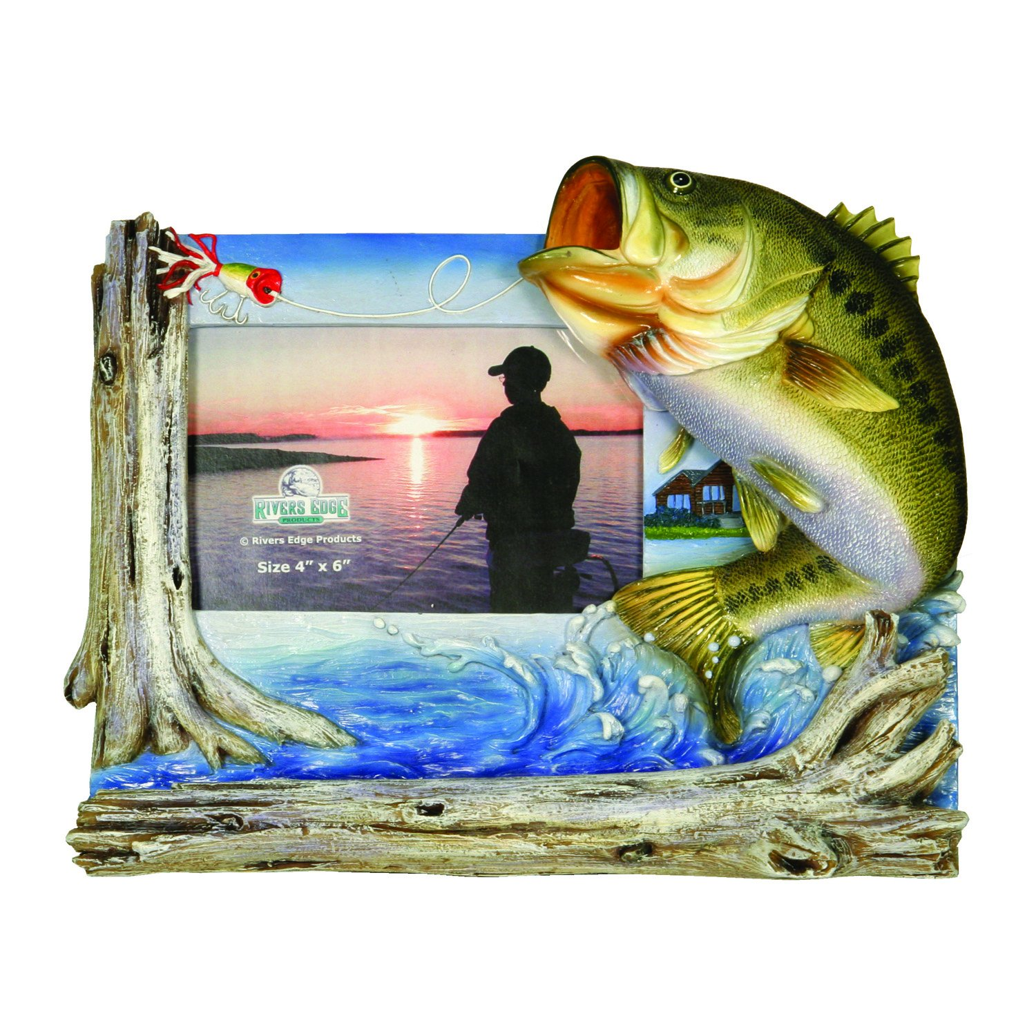Amazon rivers edge bass fishing picture frame holds 4 x 6 amazon rivers edge bass fishing picture frame holds 4 x 6 photo sports outdoors jeuxipadfo Choice Image